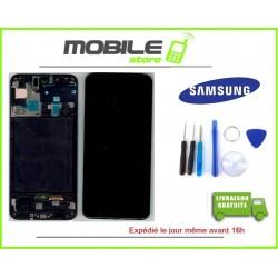 Vitre Tactile + Ecran LCD + Chassis Original Samsung A505f A50 2019 noir + Outil