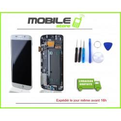 Vitre Tactile + LCD original Samsung G925f et S6 edge couleur blanc