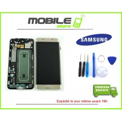 Vitre Tactile + LCD original Samsung G928f et S6 edge+ couleur gold/or