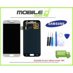 Vitre Tactile + LCD original pour Samsung G930f et S7 couleur blanc