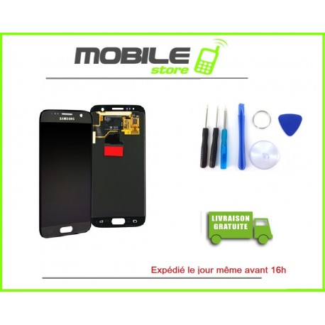Vitre Tactile + LCD original pour Samsung G925f et S6 edge couleur blanc