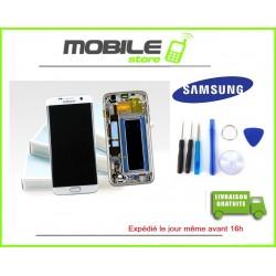 Vitre Tactile + LCD original Samsung G935f et S7 edge couleur blanc