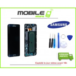Vitre Tactile + LCD original Samsung G935f et S7 edge couleur noir
