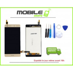 Vitre Tactile + LCD Huawei P8 lite gold/or