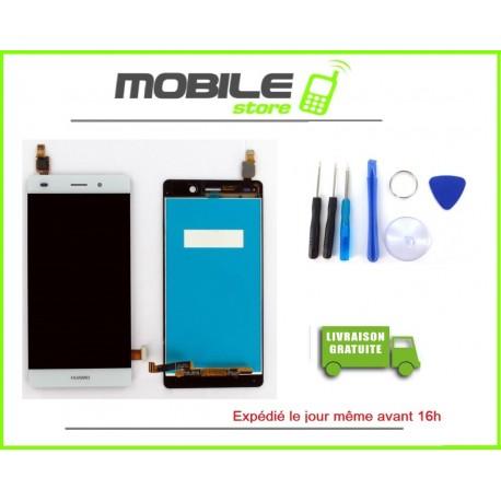 Vitre Tactile + LCD Huawei P8 lite couleur blanc