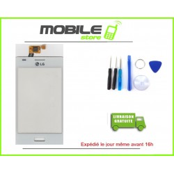 VITRE TACTILE LG L5 OPTIMUS COULEUR BLANC