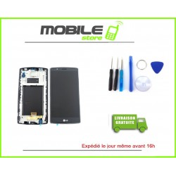 Vitre Tactile + LCD + CHASSIS LG G4 ET H815 COULEUR SILVER