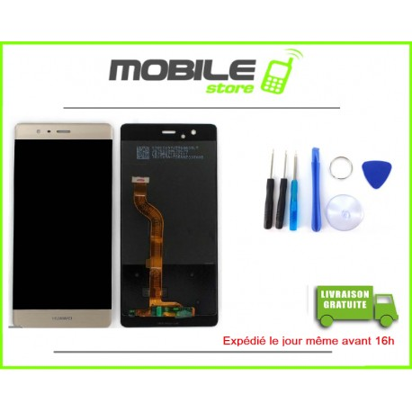 Vitre Tactile + LCD Huawei P9 couleur gold/or