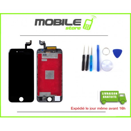 VITRE TACTILE + LCD POUR IPHONE 6S COULEUR NOIR