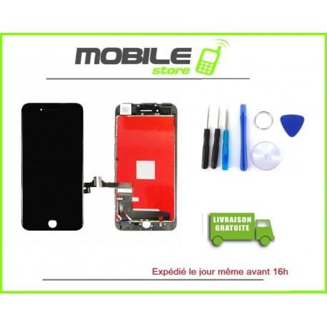 VITRE TACTILE + LCD POUR IPHONE 7+ ET 7PLUS COULEUR NOIR