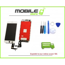 VITRE TACTILE + LCD IPHONE 7+ ET 7PLUS COULEUR BLANC
