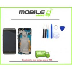 VITRE TACTILE + LCD + CHASSIS HTC M8 COULEUR GRIS ET NOIR