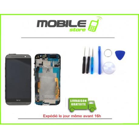 VITRE TACTILE + LCD + CHASSIS POUR HTC M8 COULEUR GRIS ET NOIR