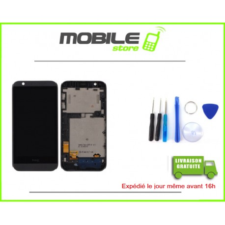 VITRE TACTILE + LCD + CHASSIS POUR HTC 510 COULEUR NOIR