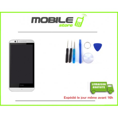VITRE TACTILE + LCD + CHASSIS POUR HTC 510 COULEUR BLANC