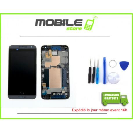 VITRE TACTILE + LCD + CHASSIS POUR HTC 610 COULEUR NOIR