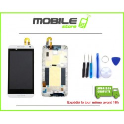 VITRE TACTILE + LCD + CHASSIS HTC 610 COULEUR BLANC