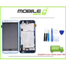 VITRE TACTILE + LCD + CHASSIS HTC 620 COULEUR BLANC ET BLEU