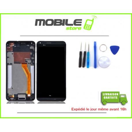 VITRE TACTILE + LCD + CHASSIS POUR HTC 816 COULEUR NOIR