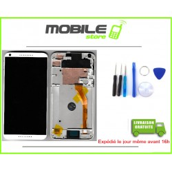 VITRE TACTILE + LCD + CHASSIS HTC 816 COULEUR BLANC
