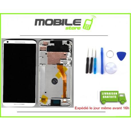 VITRE TACTILE + LCD + CHASSIS POUR HTC 816 COULEUR BLANC