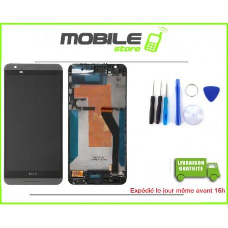 VITRE TACTILE + LCD + CHASSIS POUR HTC 820 COULEUR NOIR
