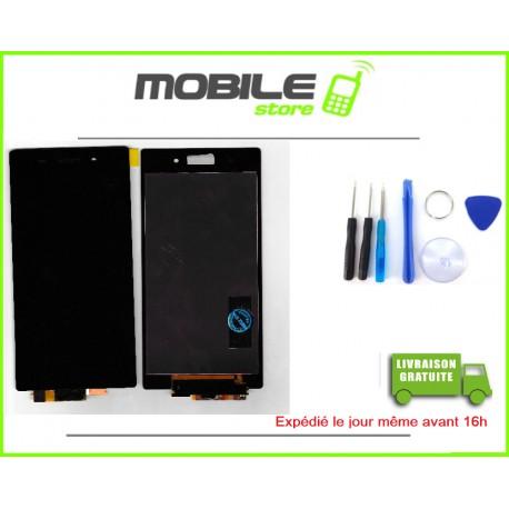 VITRE TACTILE + LCD POUR SONY Z1 ET L39h COULEUR NOIR