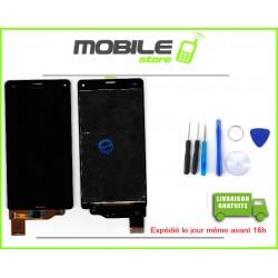 VITRE TACTILE + LCD POUR SONY Z3 MINI ET COMPACT ET D5803 COULEUR NOIR