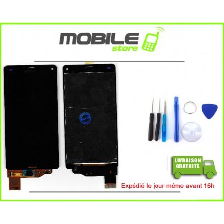 VITRE TACTILE + LCD POUR SONY Z3 MINI ET D5803 COULEUR NOIR