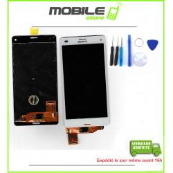 VITRE TACTILE + LCD POUR SONY Z3 MINI ET COMPACT ET D5803 COULEUR BLANC