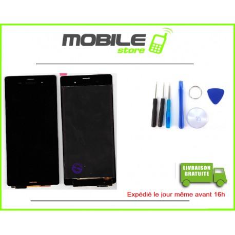 VITRE TACTILE + LCD POUR SONY Z3 ET D6603 COULEUR NOIR