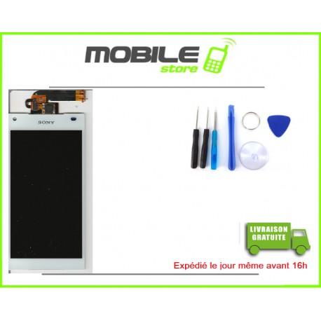 VITRE TACTILE + LCD POUR SONY Z5 MINI ET COMPACT ET D5823 ET E5803 COULEUR BLANC