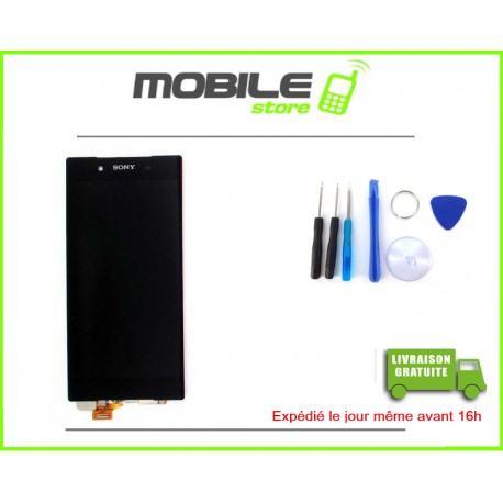 VITRE TACTILE + LCD POUR SONY Z5 ET E6603 ET E6653 COULEUR NOIR