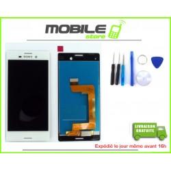 VITRE TACTILE + LCD POUR SONY M4 AQUA ET E2303 COULEUR BLANC