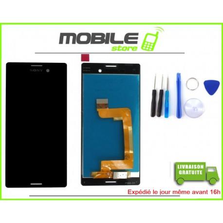 VITRE TACTILE + LCD POUR SONY M4 AQUA ET E2303 COULEUR NOIR