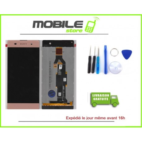 VITRE TACTILE + LCD POUR SONY XPERIA XA ET F3111 COULEUR ROSE