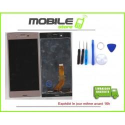VITRE TACTILE + LCD POUR SONY XPERIA XZ ET F8331 F8332 COULEUR GRIS FONCE