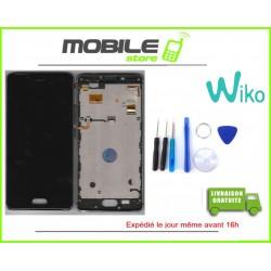 VITRE TACTILE + LCD + CHASSIS ORIGINAL POUR WIKO UFEEL 4G COULEUR NOIR ET GRIS ESPACE