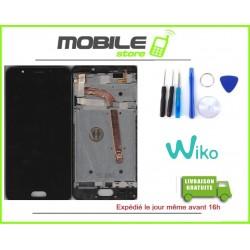 VITRE TACTILE + LCD + CHASSIS ORIGINAL WIKO UFEEL PRIME COULEUR NOIR