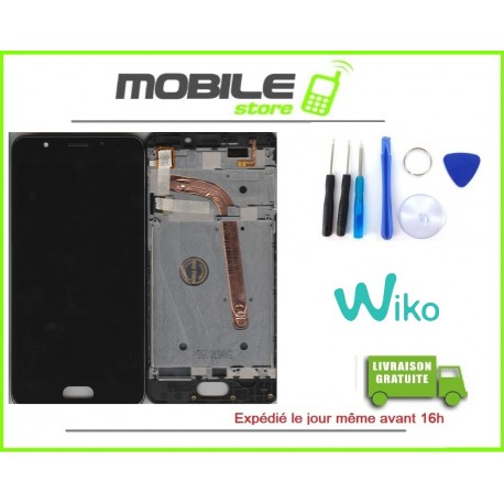 VITRE TACTILE + LCD + CHASSIS ORIGINAL POUR WIKO UFEEL PRIME COULEUR NOIR