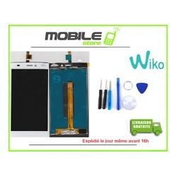 VITRE TACTILE + LCD ORIGINAL POUR WIKO RIDGE FAB 4G COULEUR BLANC