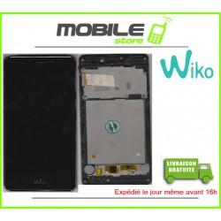 VITRE TACTILE + LCD + CHASSIS ORIGINAL POUR WIKO TOMMY COULEUR NOIR
