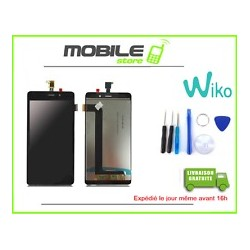 VITRE TACTILE + LCD POUR WIKO SLIDE 2 COULEUR NOIR