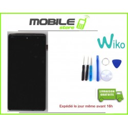 VITRE TACTILE + LCD + CHASSIS ORIGINAL WIKO ROBBY COULEUR NOIR