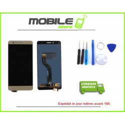 Vitre Tactile + LCD Huawei Honor 5X couleur gold/or
