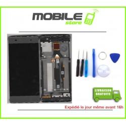 VITRE TACTILE + LCD + CHASSIS POUR SONY E4G ET E2003 ET E2006 COULEUR NOIR