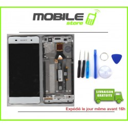 VITRE TACTILE + LCD + CHASSIS GRIS POUR SONY XA ET F3111