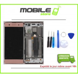 VITRE TACTILE + LCD + CHASSIS ROSE POUR SONY XA ET F3111
