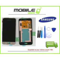 Vitre Tactile + LCD original Samsung J120f et J1 2016 couleur gold/or