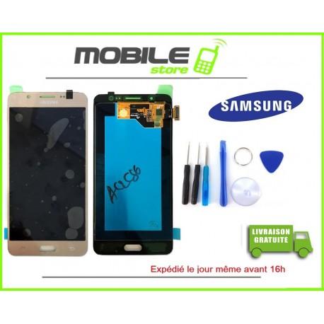 Vitre Tactile + LCD original pour Samsung J510f et J5 2016 couleur gold/or